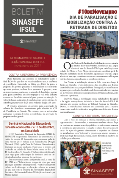 Boletim Sinasefe-IFSul  | Terceira edição
